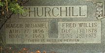 Maggie <I>McDaniel</I> Churchill