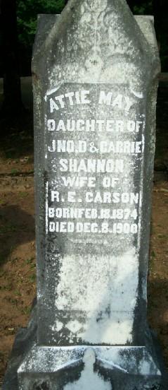 Attie May <I>Shannon</I> Carson