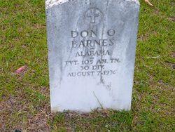 Pvt Don O. Barnes