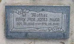 Mary Jane <I>Jones</I> Allen