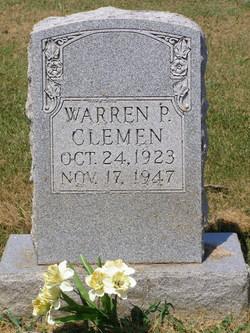 Warren P Clemen