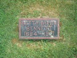 Betty <I>Dixon</I> Bennett