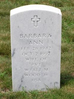 Barbara Ann <I>Frum</I> Wood