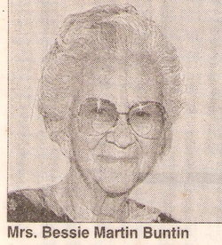 Bessie Mae <I>Martin</I> Buntin