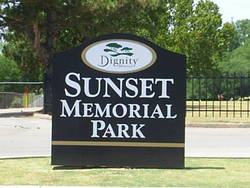 Sunset memorial park in norman oklahoma find a grave cemetery for Sunset memory garden funeral home