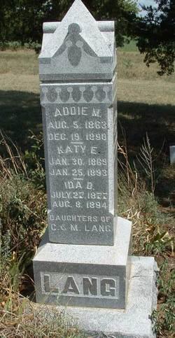 Addie M. Lang