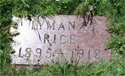 Pvt Lyman Rice