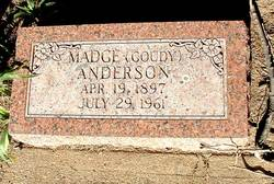 Madge <I>Goudy</I> Anderson
