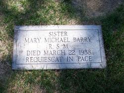 Sr Mary Michael Barry, RSM