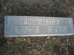"Eliza Sophia ""Liza"" <I>Kyser</I> Noonkester"