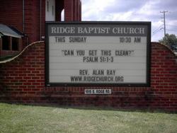 Ridge Baptist Church Cemetery