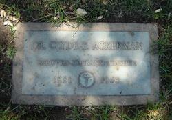 Dr Clyde Edward Ackerman