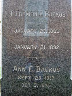 Ann Eliza <I>Walworth</I> Backus