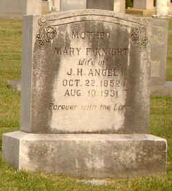 Mary Frances <I>Knight</I> Angel