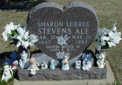 Sharon Lueree <I>Stevens</I> Ale