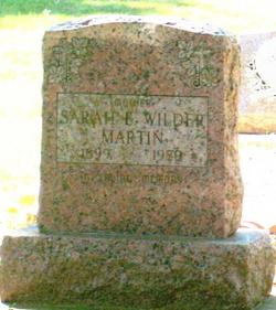 Sarah E. <I>Wilder</I> Martin
