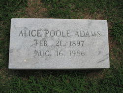 Alice <I>Poole</I> Adams