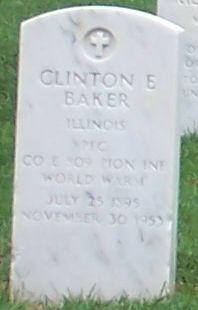 Pvt Clinton E. Baker