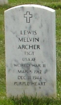TSGT Lewis Melvin Archer