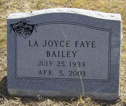 La Joyce Faye Bailey