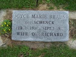 Joyce Marie <I>Schenck</I> Braun