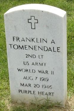 2LT Franklin A Tomenendale