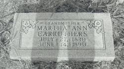 Martha Ann <I>Hockman</I> Carruthers