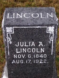 Julia Ann <I>Pennock</I> Lincoln