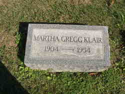 Martha <I>Gregg</I> Klair