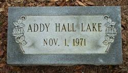 Addy <I>Hall</I> Lake