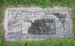 Mary Eliza <I>Winchester</I> Erekson