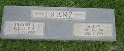 Annabel L.ee <I>Morris</I> Franz