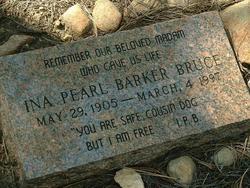Ina Pearl <I>Barker</I> Bruce