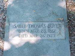 Isabel <I>Thomas</I> Boyer