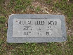 Beulah Ellen <I>Wright</I> Boyd