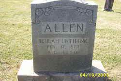 Beulah <I>Unthank</I> Allen