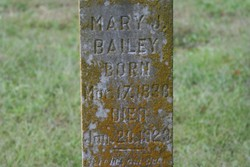 Mary Jane <I>Hinson</I> Bailey