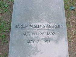Marion Wesley Stembridge