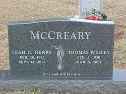 Leah Cordell <I>Henry</I> McCreary