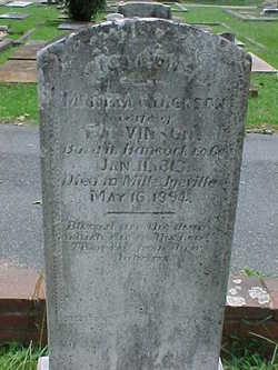 Martha Crawford <I>Dickson</I> Vinson