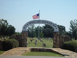 Superior Entrance To The Wall Of Honor, Serenity Memorial Gardens, Theodore,.