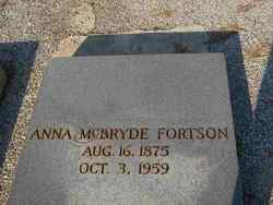 Anna <I>McBryde</I> Fortson
