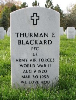 Thurman E Blackard