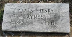 Clara <I>Henry</I> Ayres