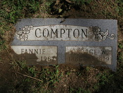 "Francis Emma ""Fannie"" <I>Rukes</I> Compton"