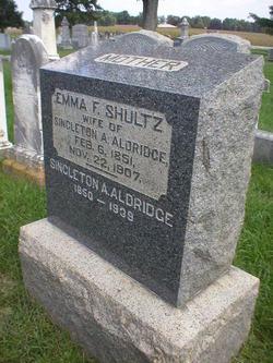 Emma F <I>Shultz</I> Aldridge