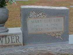Mary Lou <I>Loe</I> Browder