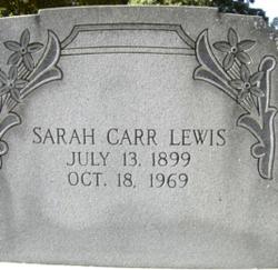 Sally ( Sarah) Carr <I>Adams</I> Lewis