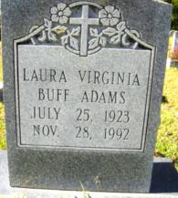 Laura Virginia <I>Buff</I> Adams