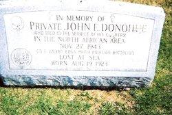 Pvt John E. Donohue